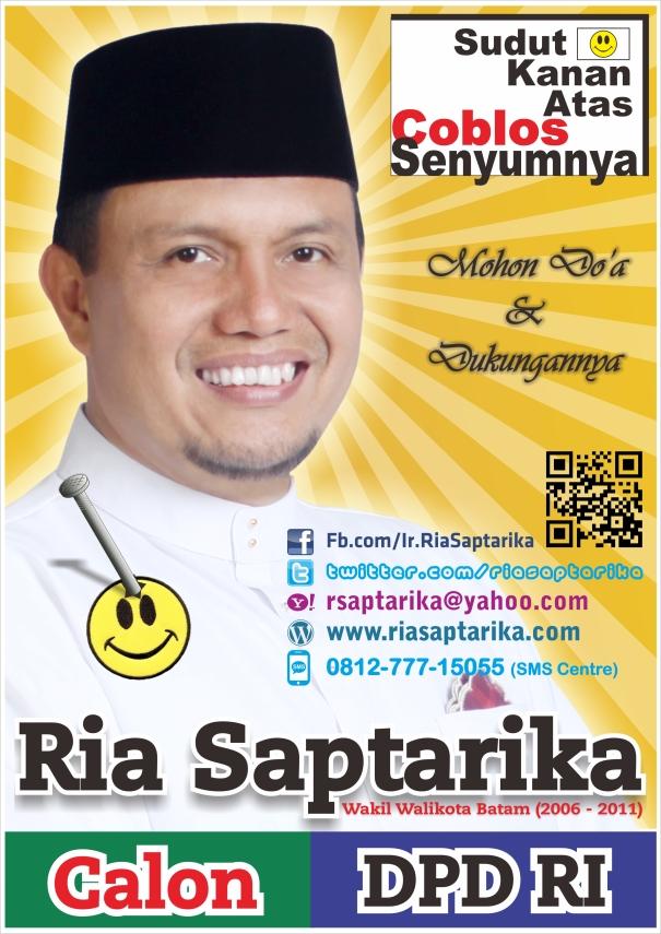 Disain Billboard, Baliho, Sticker Ria Saptarika, Calon DPD RI