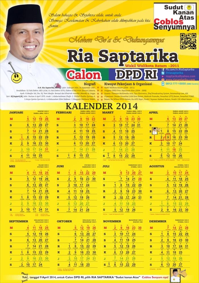 Kalender 2014 Ria Saptarika