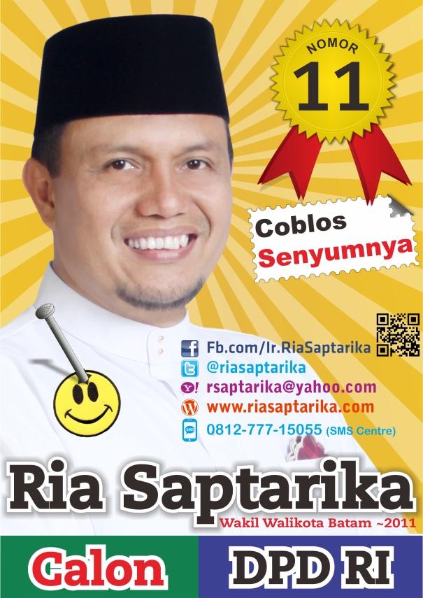 Poster & Sticker Ria Saptarika calon DPD RI, No.Urut.11